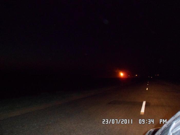 Ночные огни газпрома в оренбурской